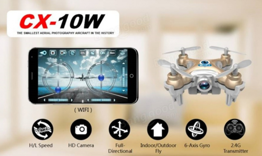 Quadrocopter cheerson cx 10w mit Aliexpress